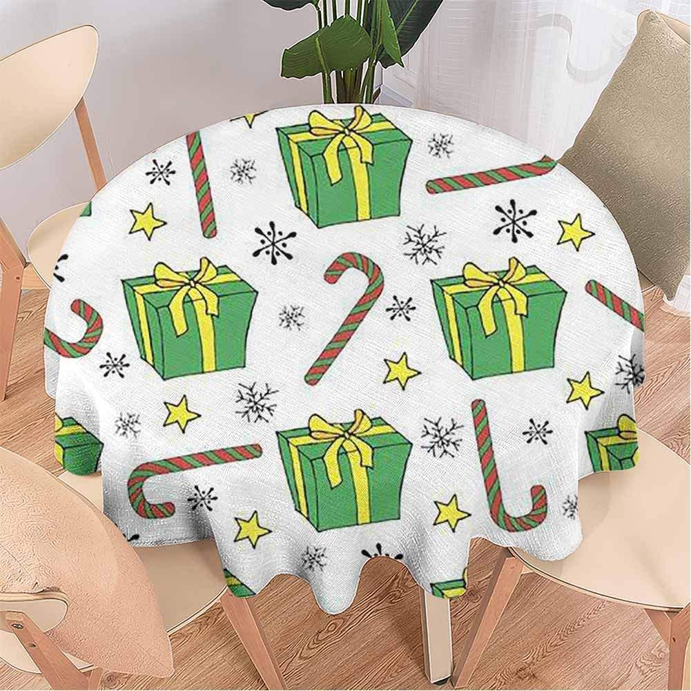Cloth Tablecloths, Cane Lollipop in Vintage Style on a,Table Cloth for Dining Room 63 Inch Round