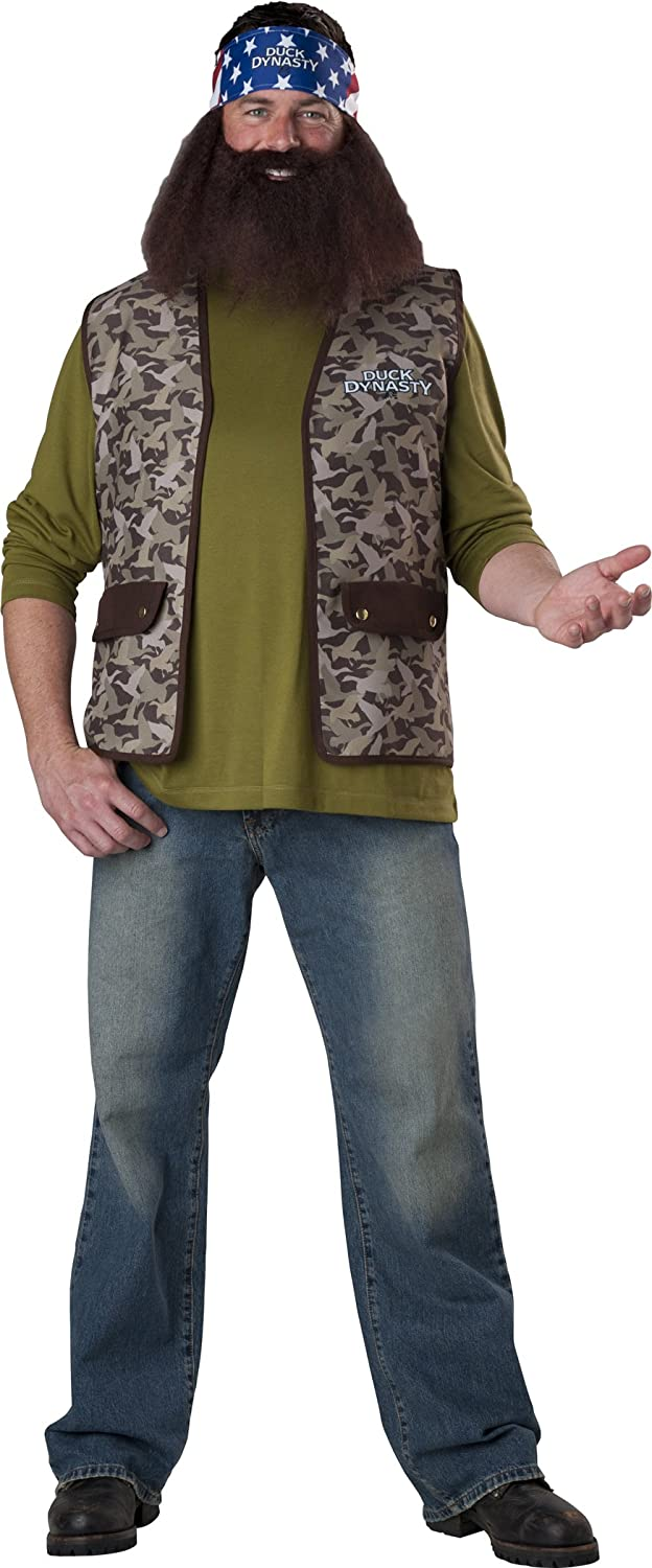 amazoncom incharacter costumes duck dynasty willie costume brown camo one size clothing - Jase Robertson Halloween Costume