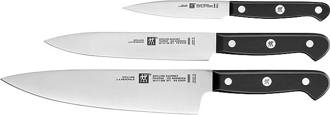 Zwilling 36130 003 0 Set De 3 Couteaux Acier Inoxydable Noir 34