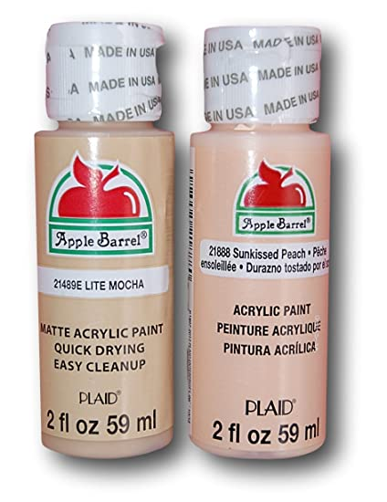 Apple Barrel Acrylic Paint Flesh Tones Set Lite Mocha