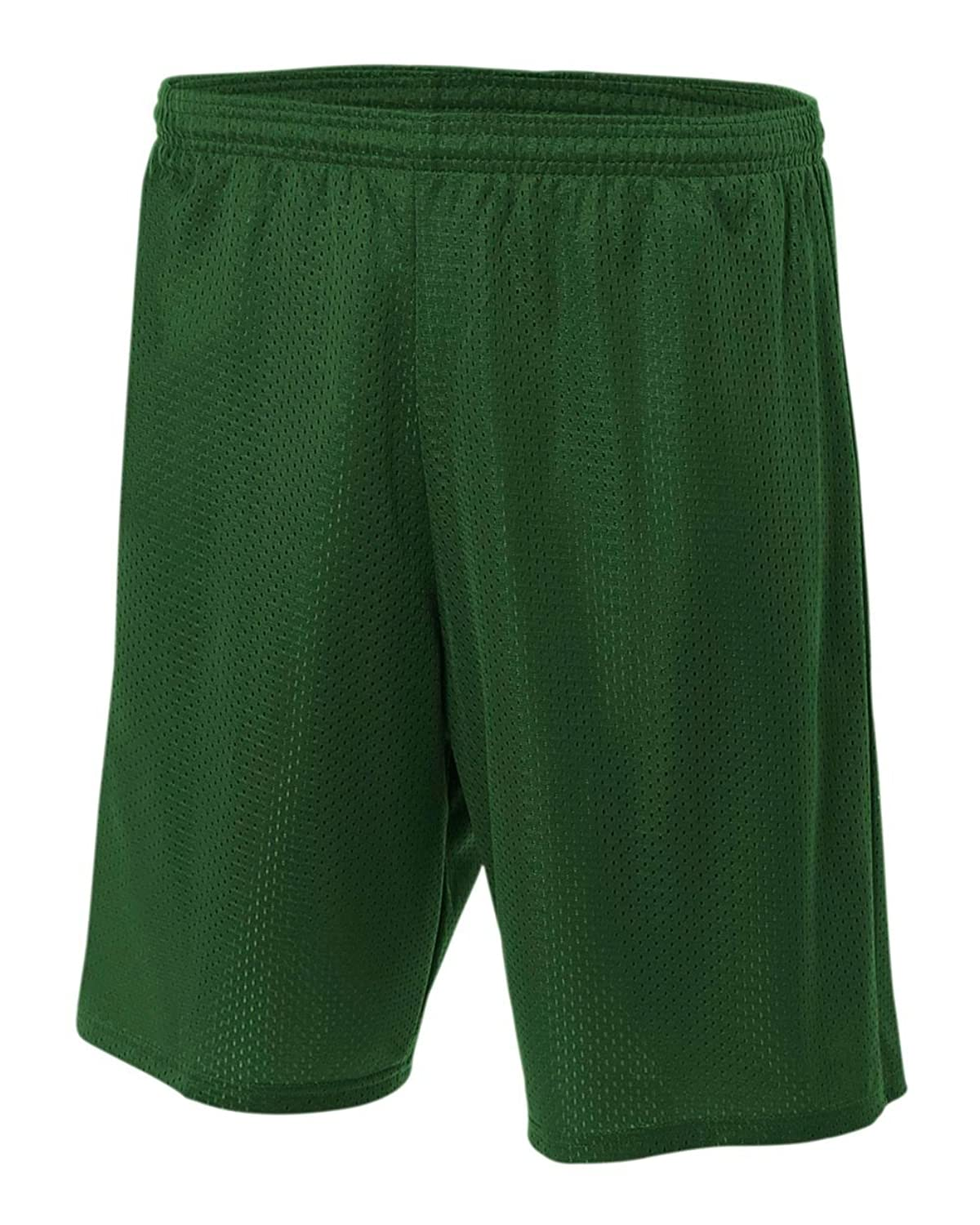 "A4 Adult 9"" Lined Tricot Mesh Shorts (Forest) (3X-Large)"