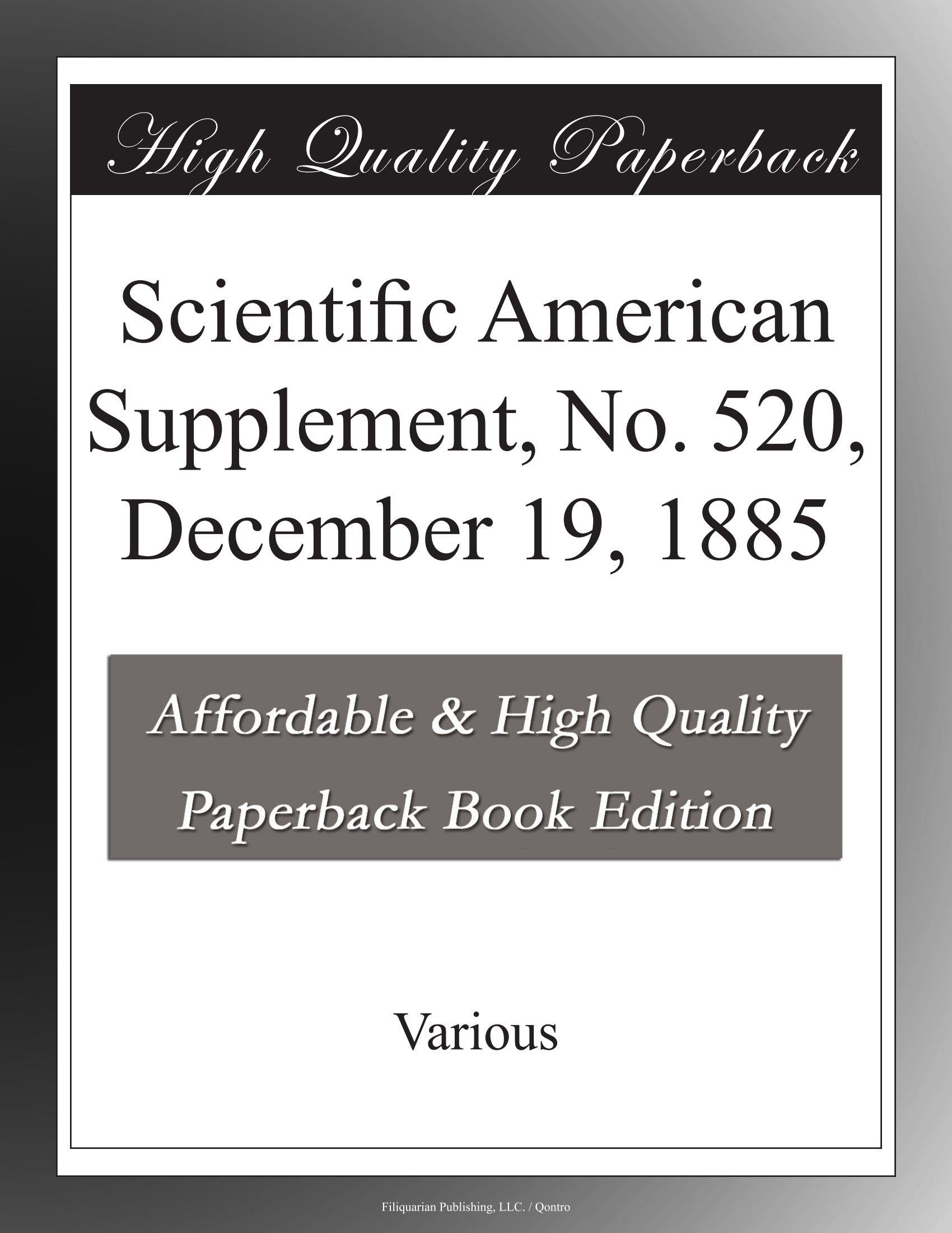 Scientific American Supplement, No. 520, December 19, 1885 pdf epub