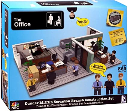 NBC The Office Dunder Mifflin Scranton Branch Construction Set Phatmojo Figures