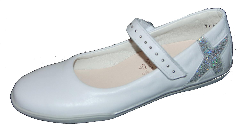 Kommunionschuhe Helgas Modewelt D/äumling Ballerina Flacher Kommunionschuh