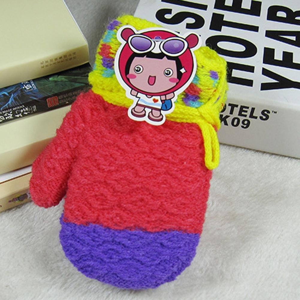 Sacow Cute Cartoon Thicken Hot Infant Baby Girls Boys Of Winter Warm Acrylic fibers Gloves
