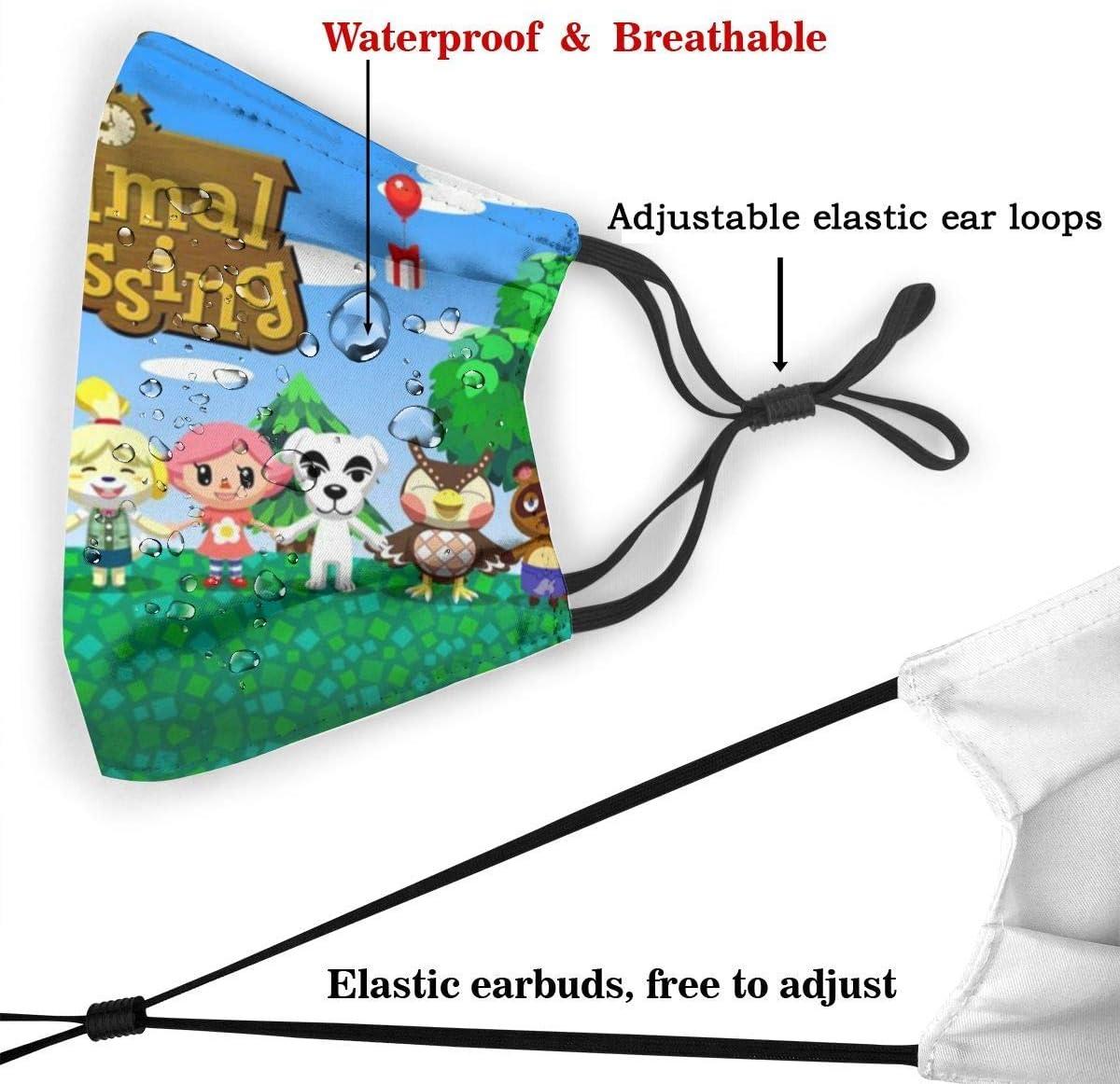 Kinder Verstellbar Anti Animal Crossing 2 Cartoon Gesichtsschal Gesichtsmund Schal Work Balaclava Stirnband Für Radfahren Camping Reisen Für Mädchen Baumarkt