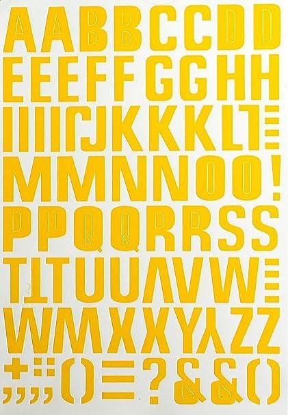 jazzstick large alphabet letters decorative sticker value pack bulk 5 sheets yellow 14b05