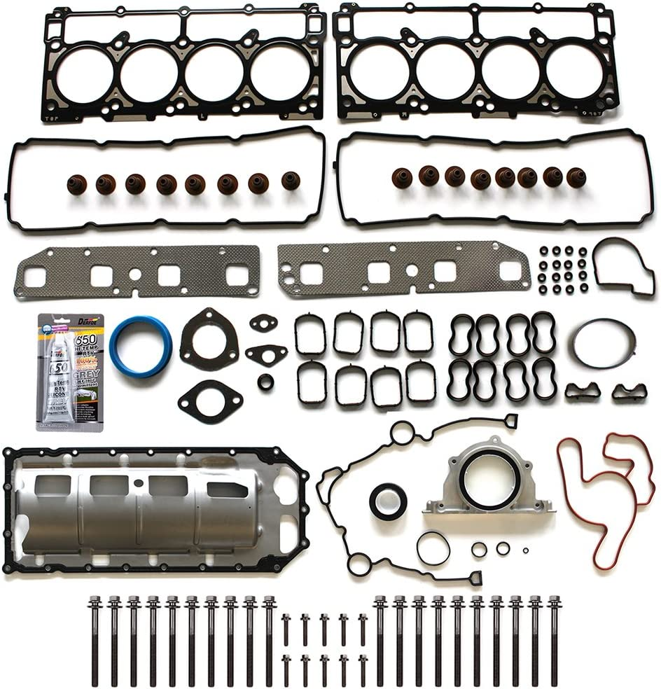 ECCPP Engine Full Gasket Set w/Bolts for 03 04 05 06 07 08 for Jeep Grand Cherokee for Chrysler 300 Aspen for Dodge for Ram Charger Magnum 5.7L V8 OHV Head Gaskets Kit