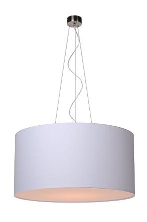 Lucide 61452/40/31 Coral - Lámpara de techo colgante (tela, E27, 40 cm), color blanco