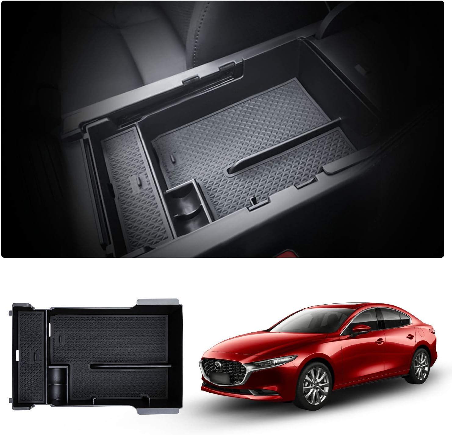 Storage Box Innen Mittelarmlehne Armlehne Organizer Mittelkonsole Aufbewahrungsbox f/ür Mazda3
