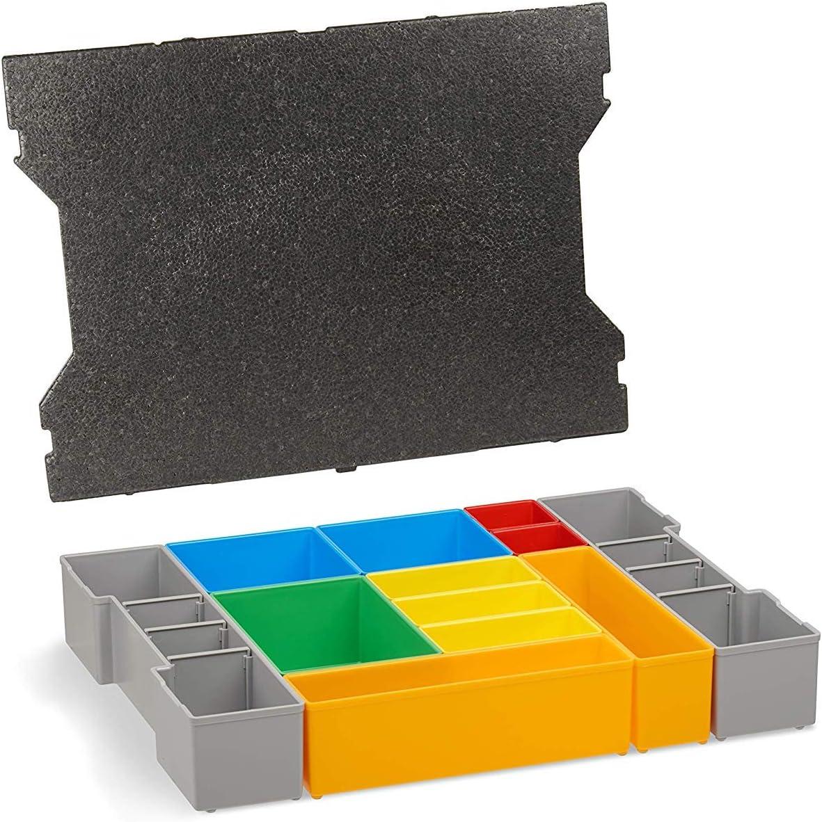 L Boxx Lot de 3 bo/îtes denceintes A3 CD H3 pour nouvelle L-Boxx G4 Coffret de rangement id/éal avec couvercle de protection