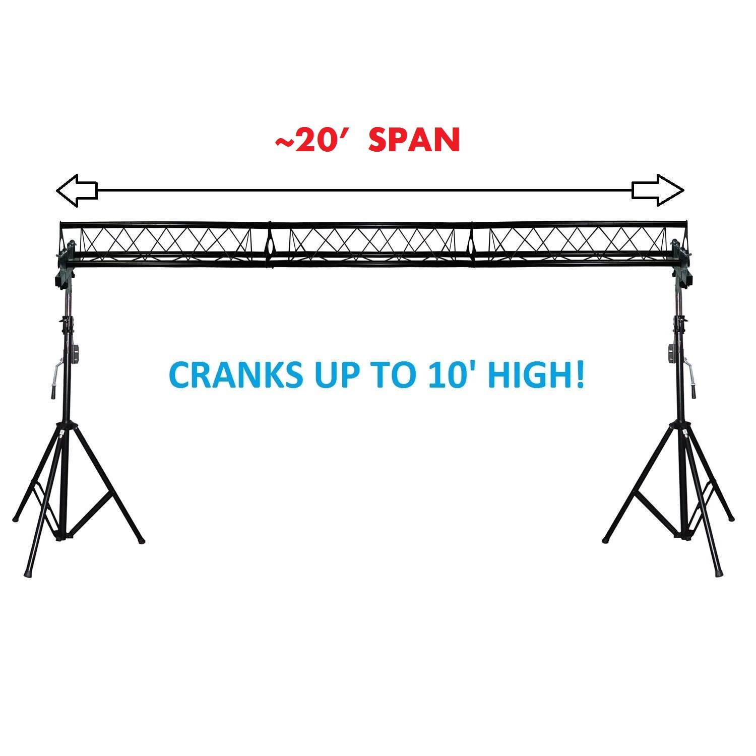 truss foldable portable t system prox lighting triangular complete