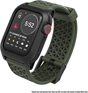 Bundle - Case for Apple Watch Series 5 and Series 4 44mm, Buckle Edition, Extra Army Green Sport Band