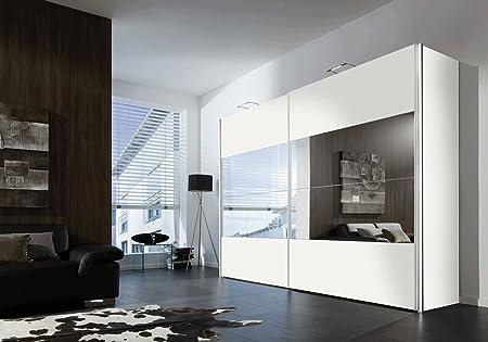 SAM® Armario Boa flotante Puerta Corredera 300 cm blanco Espejo maciza Fácil: Amazon.es: Hogar