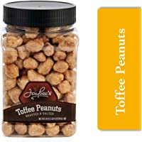 Jaybee's Toffee Covered Peanuts , Everyday Crunchy Snack, Reusable Container, Kosher (20 ounces)