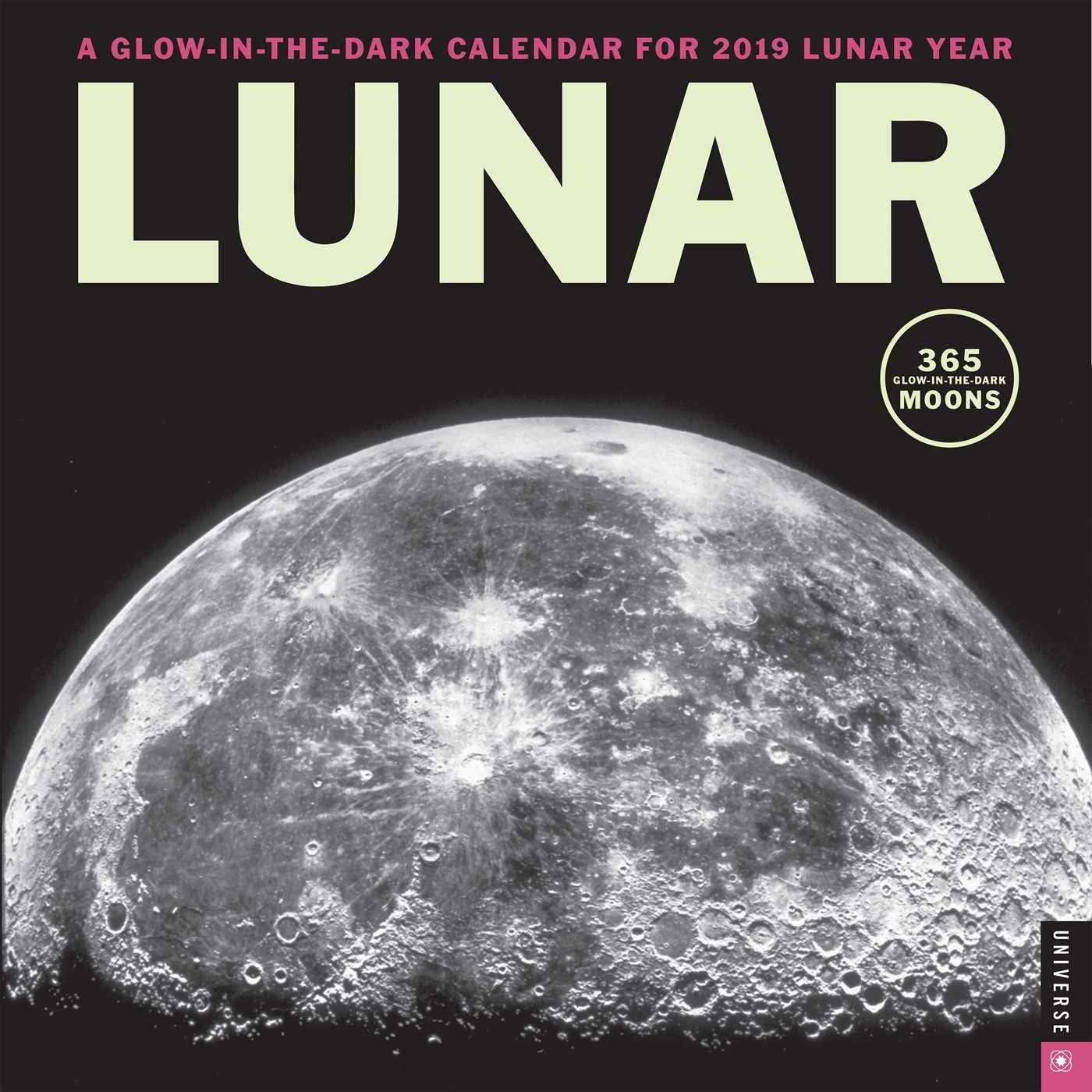 Lunar 2019 Wall Calendar: A Glow-in-the-Dark Calendar for the Lunar Year