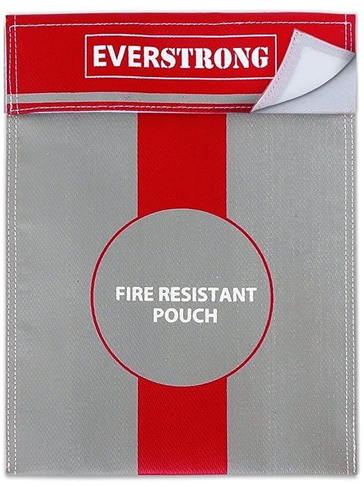Fire Resistant Document Bag Heavy Duty Fiberglass