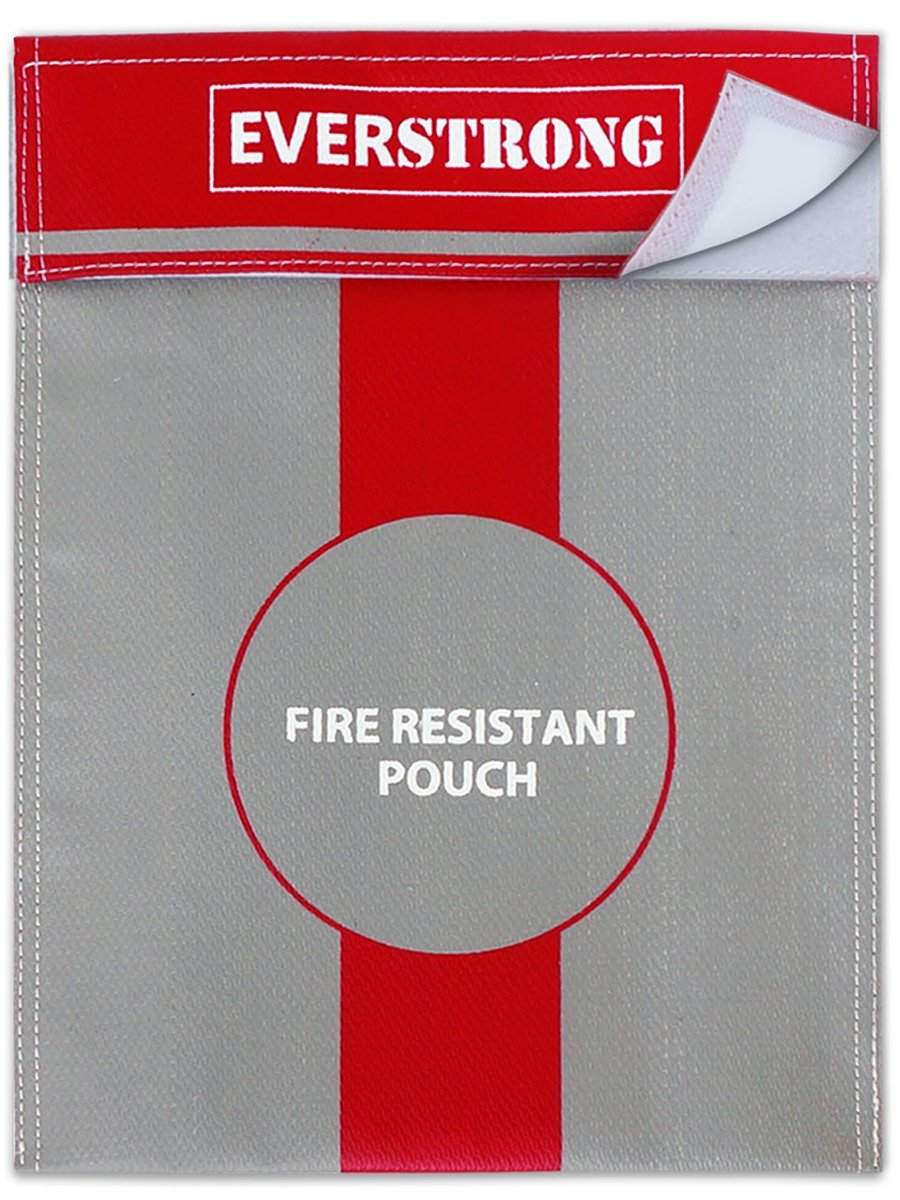 Fire Safe Box Accessory | 15x11 Inch Non-Itchy Fireproof Bag for Money, Passport, Jewelry and Important Documents in Fireproof Safe, Fireproof Box, or Fireproof Safe | Fire Proof Case by EverStrong