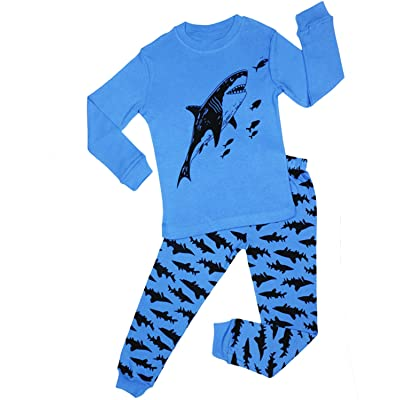 Tinaflower Children Pajamas Fish Little Kids Pjs Sets 100% Cotton Toddler Sleepwears