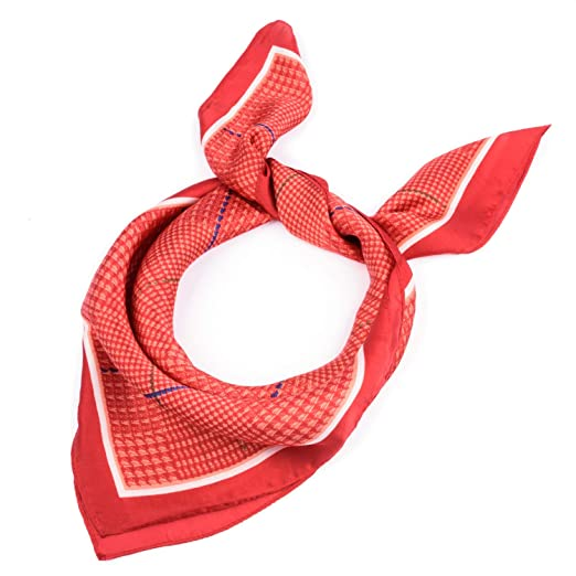 1f791ff468c80 BeCann Silk Like Scarf Square Satin Hair Scarf Fashion Neck Scarfs for Women  27.5'' x 27.5'' (Red) at Amazon Women's Clothing store: