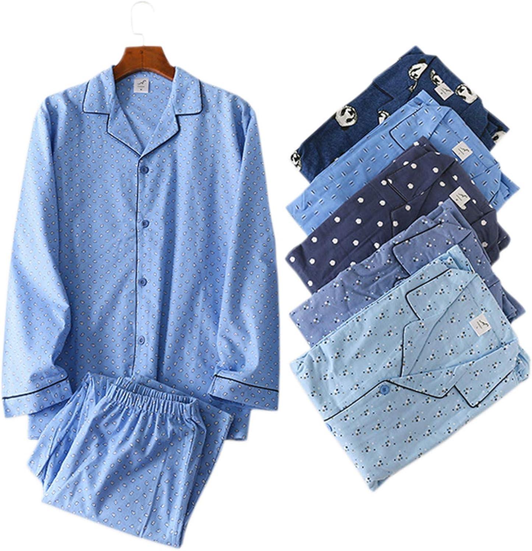 Thadensama Winter Brushed Cotton Pyjama Homme Male Long-Sleeve Sleepwear Pijama Hombre Simple Korea Fashion Pyjamas Sets Pajamas Bc Men-2 Bc Men-2