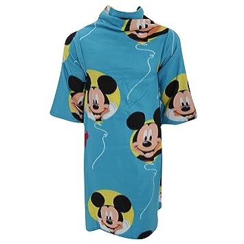 Disney - Batamanta polar con mangas de Mickey Mouse para niños (90x120cm/Azul): Amazon.es: Hogar