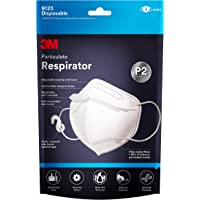 3M P2 Particulate Vertical Flat Fold Disposable Respirator 3 pack