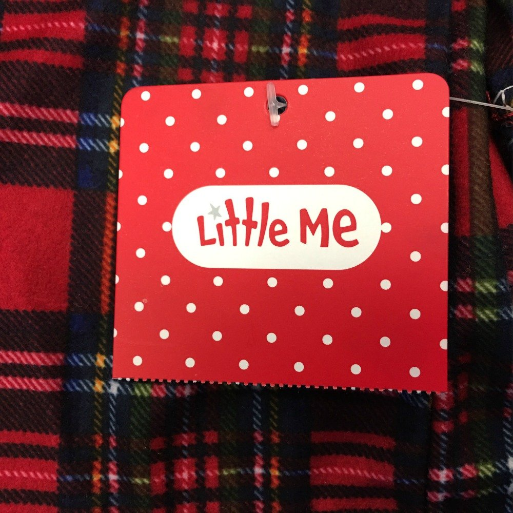 Little Me Little Girls' Christmas Pajamas -Red Plaid Nightgown (24 months)
