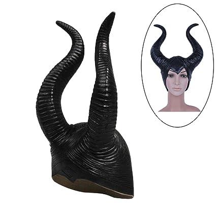 Genuino Antimitótico Cuernos Mujeres Adultas Fiesta de Halloween Traje Cosplay Casco Sombrero Louper