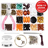 Jewelry Making Kit - Jewelry Making Supplies for Adults, Girls, Teens and Women. Jewellery Findings & Beads Kit, Includes Everything for Beginners, Step by Step Instructions & Project Photos.
