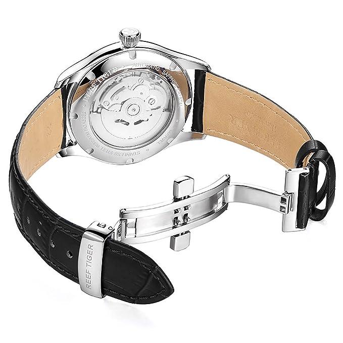 Tiger Herren Datum Kleid Uhren Mit Edelstahl Armbanduhr Reef QxdBoeWCr
