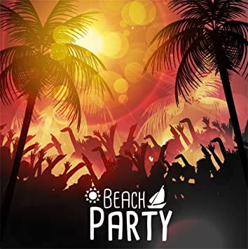 Amazon Com Laeacco Beach Party Backdrop 5x5ft Vinyl Photography Background Dancing Bodies Shaking Hands Sketch Design Safari Party Child Baby Adult Shoot Poster Dance All Night Carnival Theme Banner Summer Party