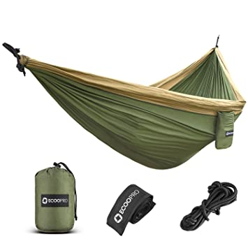 ecoopro double camping hammock   lightweight  u0026 portable parachute hammock with tree straps for camping amazon    ecoopro double camping hammock   lightweight      rh   amazon