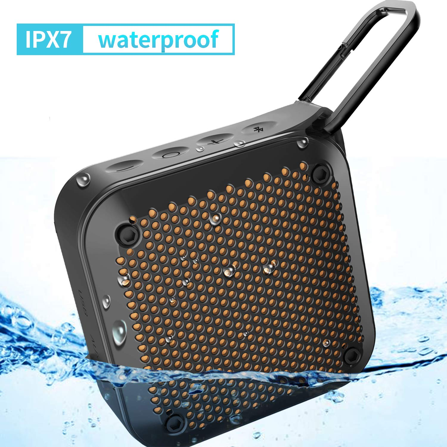 Portable Wireless Bluetooth Speaker Waterproof - LEZII (2018 New) Waterproof IPX7 Dustproof Shockproof Wireless Speaker 8-Hour Playtime Built-in Mic AUX and TF Card Input for Shower Christmas Gifts Kayaking THECO BT526