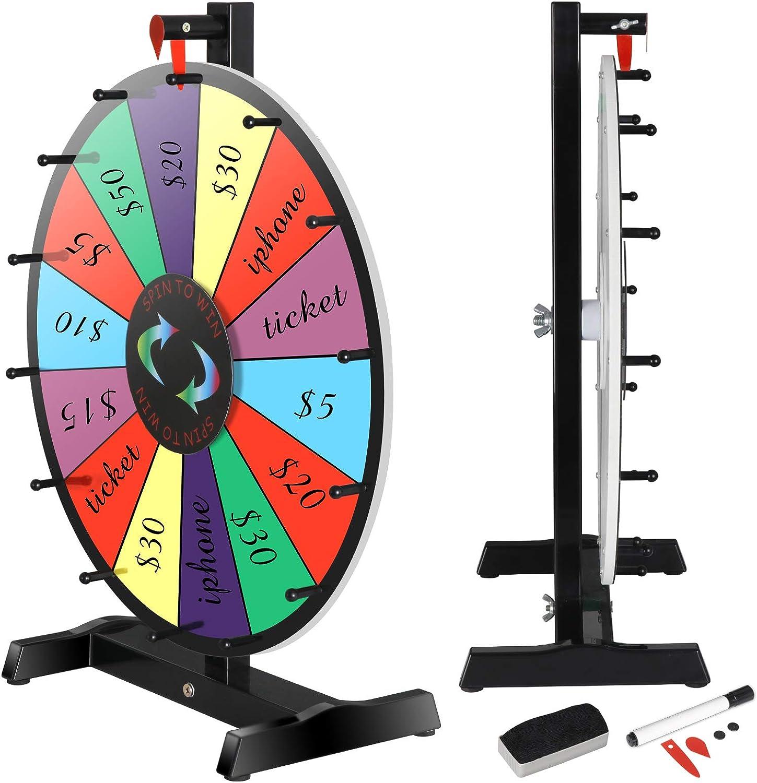 JupiterForce Prize Wheel Tabletop Color Spinning Wheel Game Sports ...