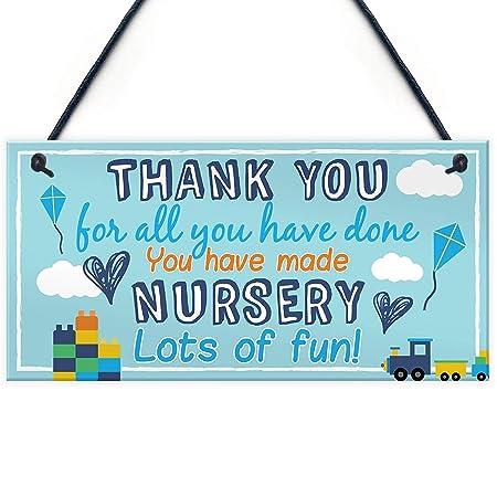 Thank You for Nursery Teacher Hanging Preschool Leavingchool ...