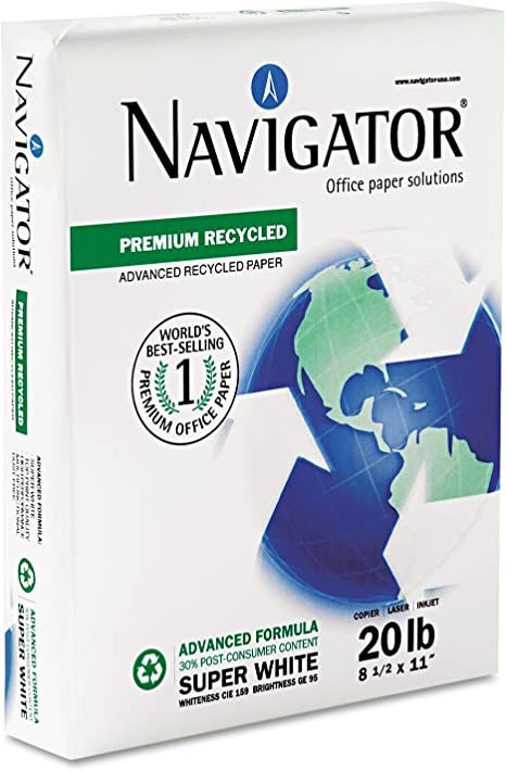 Navigator Premium Recycled Letter (215.9×279.4 mm) Blanco - Papel ...