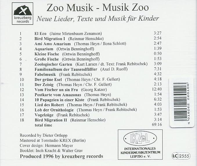 Buy Zoo Musik Musik Zoo Neue Lieder Texte Und Musik Für Kinder