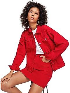 Only Faith Women S Solid Short Denim Jacket Long Sleeve Slim Jean