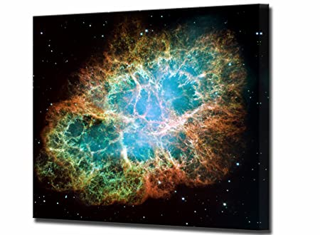 the crab nebula canvas print hubble space telescope framed wall art