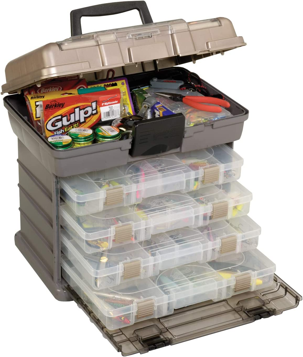 """Plano 137401 By Rack System 3700 Size Tackle Box, Multi, 16"""" X 12"""" X 17.25"""" 6lbs : Fishing Tackle Boxes : Sports & Outdoors"""