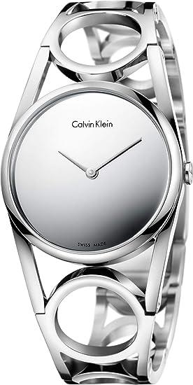 Calvin Klein Reloj Digital para Mujer de Cuarzo con Correa en Acero Inoxidable K5U2M148: Amazon.es: Relojes