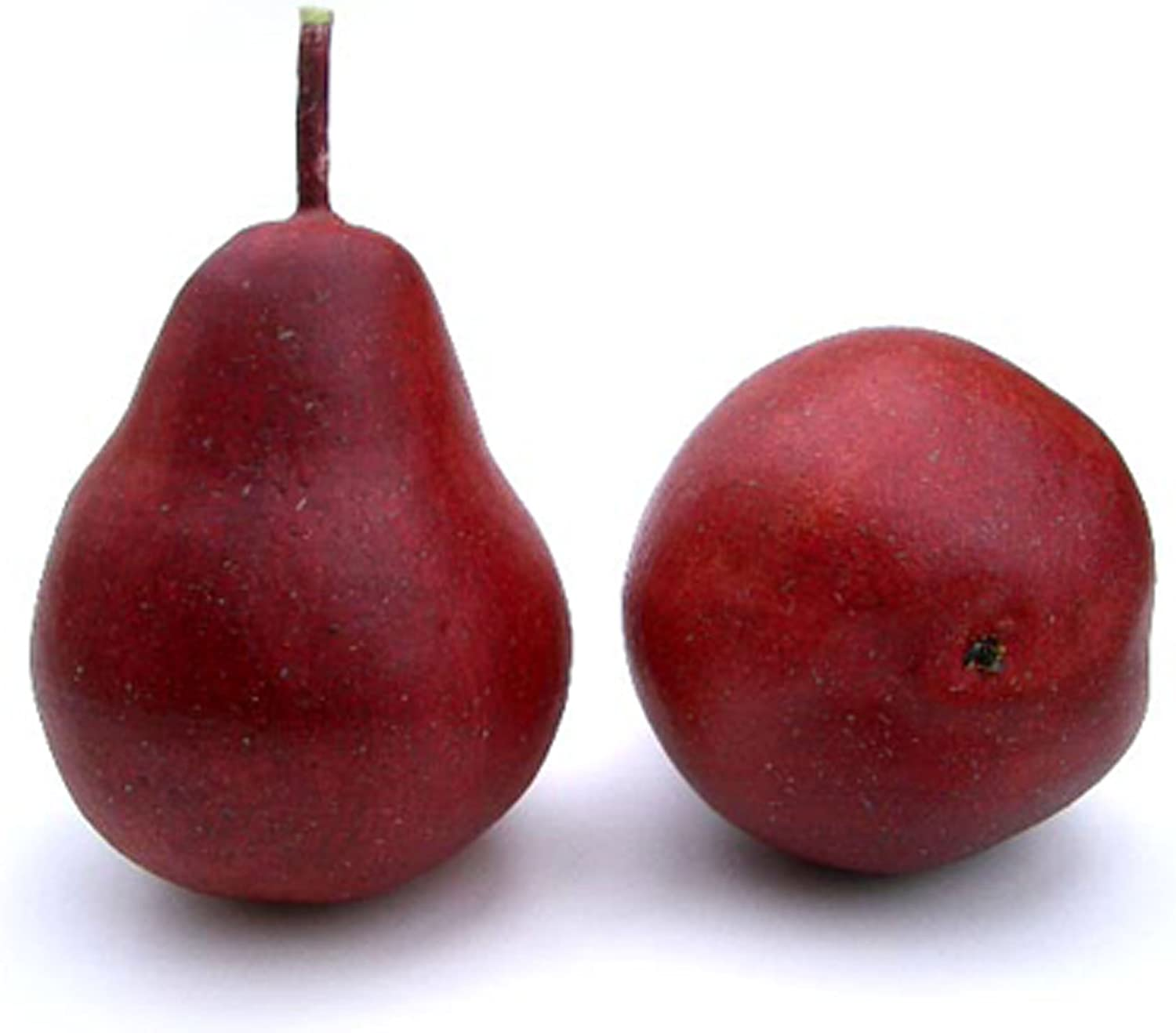 """Shop Artificial 4"""" Pear, Red, Box of 12 Fake Decorative Fruit from Amazon on Openhaus"""