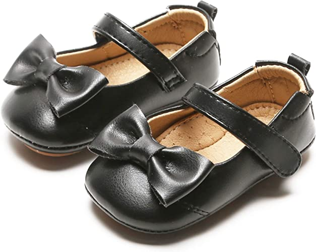 Baby Girls Walking Princess Shoes Soft Sole Bowknot First Walkers Kids Prewalker