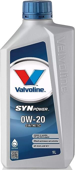 Valvoline Motoröl Motorenöl Motor Motoren Öl Motor Engine Oil Benzin Diesel Flüssiggas Synpower 0w 20 1l Auto