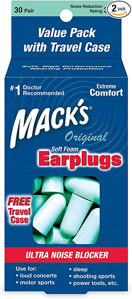 Macks Ultra Safe Sound Earplugs 2 Packs 10 pair 20 Pairs