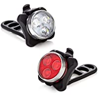 Vont 'Pyro' Bike Light Set, USB Rechargeable Super Bright Bicycle Light, Bike Lights...