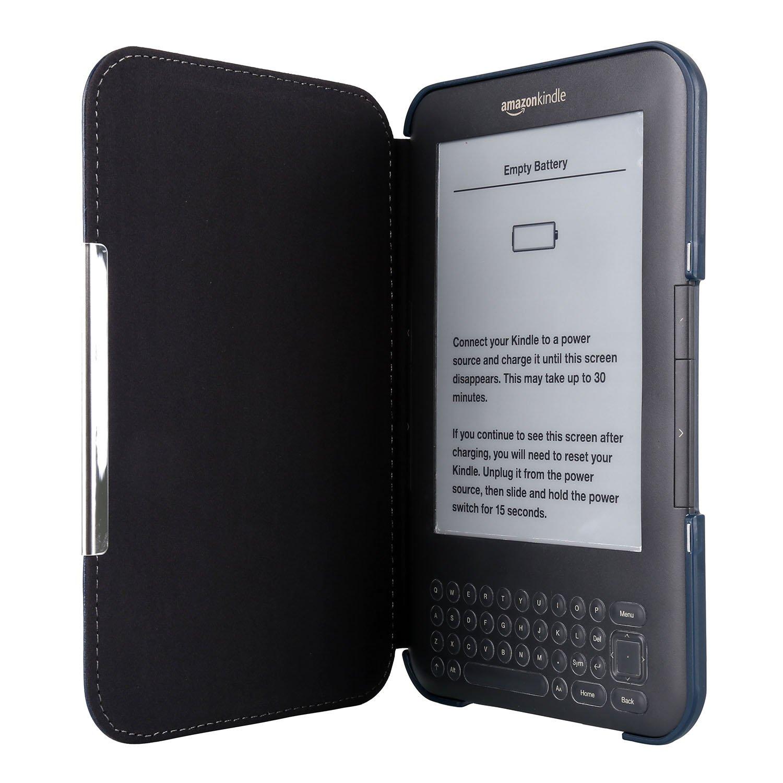 Kindle 3/Teclado 6/funda de piel sint/ética estilo libro