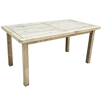 3e0eacf3b509 Forest Rosedene 6-Seater Wooden Table: Amazon.co.uk: Garden & Outdoors