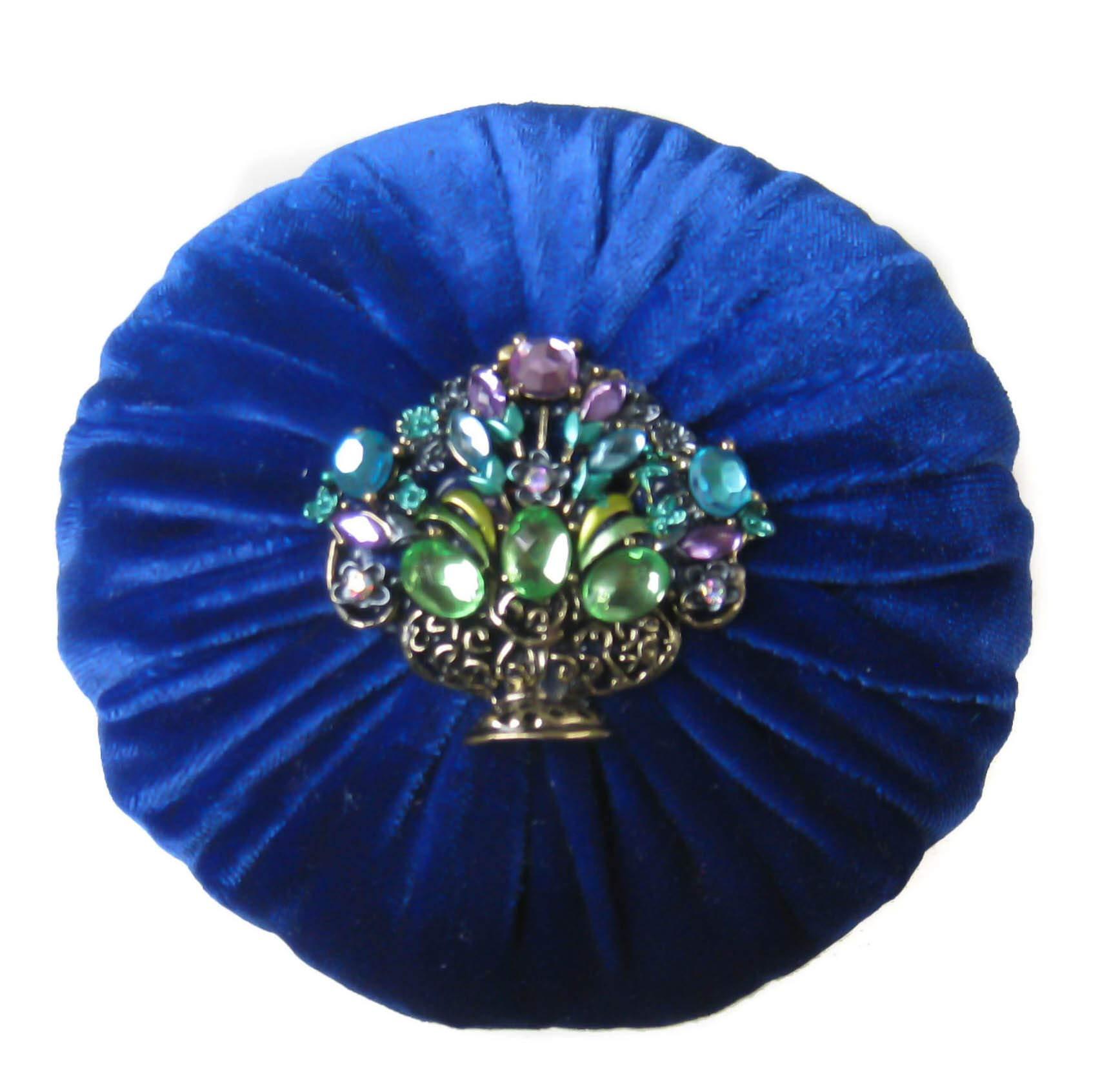 Nakpunar XL Royal Blue Emery Sewing Pincushion - Keep Your Needles Clean and Sharp by Nakpunar